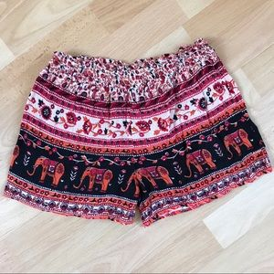 Angie Tribal Print Casual Shorts